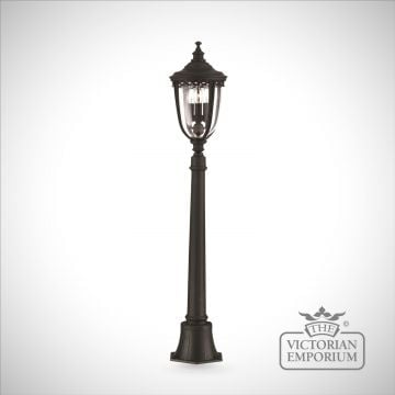 Bridle medium bollard sized lamp post in black finish