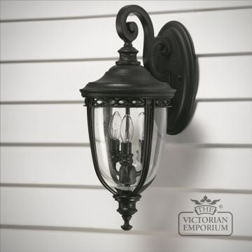 Bridle wall lantern in black finish - medium