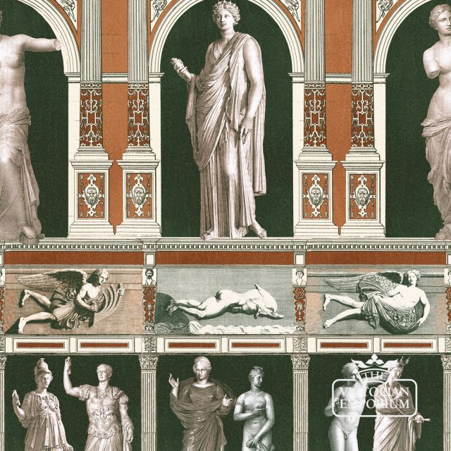 Statues Wallpaper in a choice of two colourways