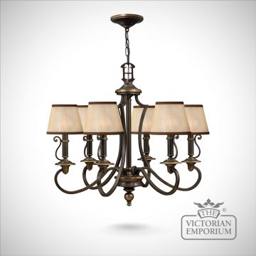 Plymouth 6 light pendant chandelier