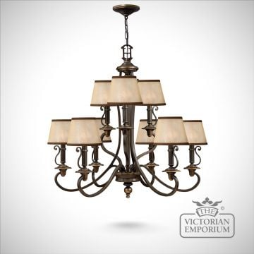 Plymouth 9 light pendant chandelier