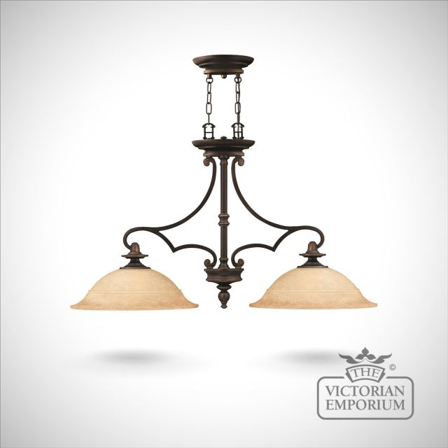 Plymouth Isle 2 light chandelier