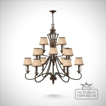 Plymouth 15 light chandelier