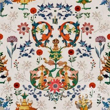 European Folk Wallpaper