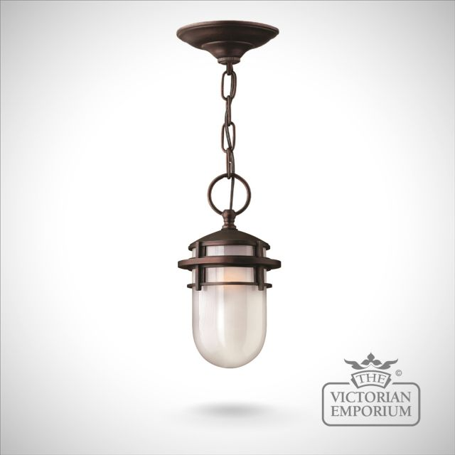 Traditional Silver Haematite Gate Post Lantern Or Driveway: Reef Chain Lantern In Victorian Bronze