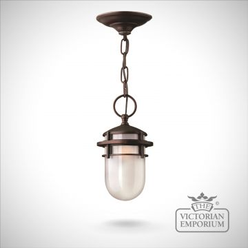 Reef chain lantern in Victorian Bronze