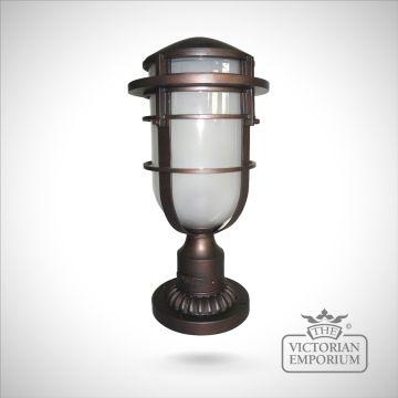 Reef Pedestal lantern in Victorian Bronze