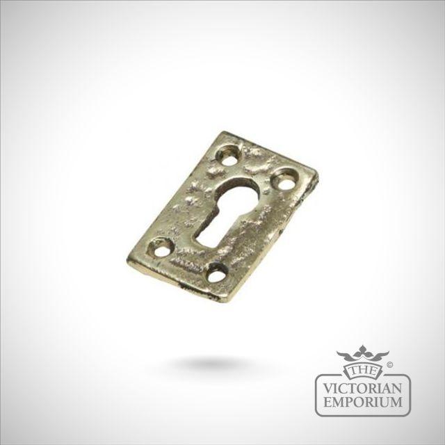 Solid cast brass rectangular escutcheon