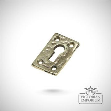 Solid cast brass rectangular escutcheon
