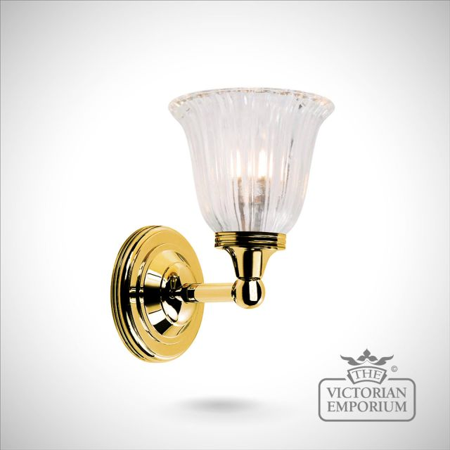 Bathroom wall light - Austin 1 in polished brass