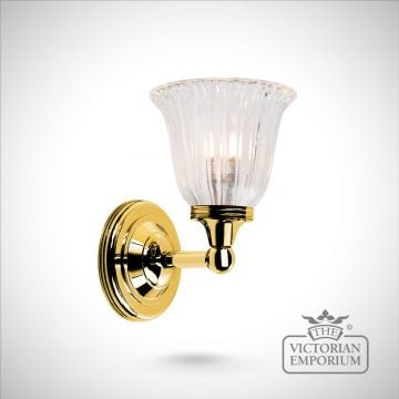 Bathroom wall light - Austin 1 in polished brass