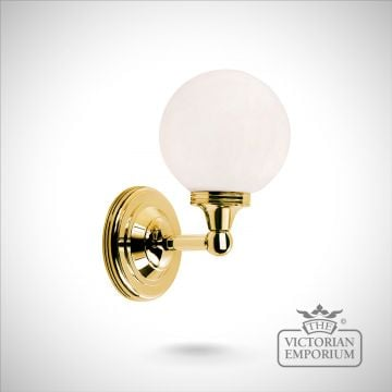 Bathroom wall light - Austin 4 in polished brass