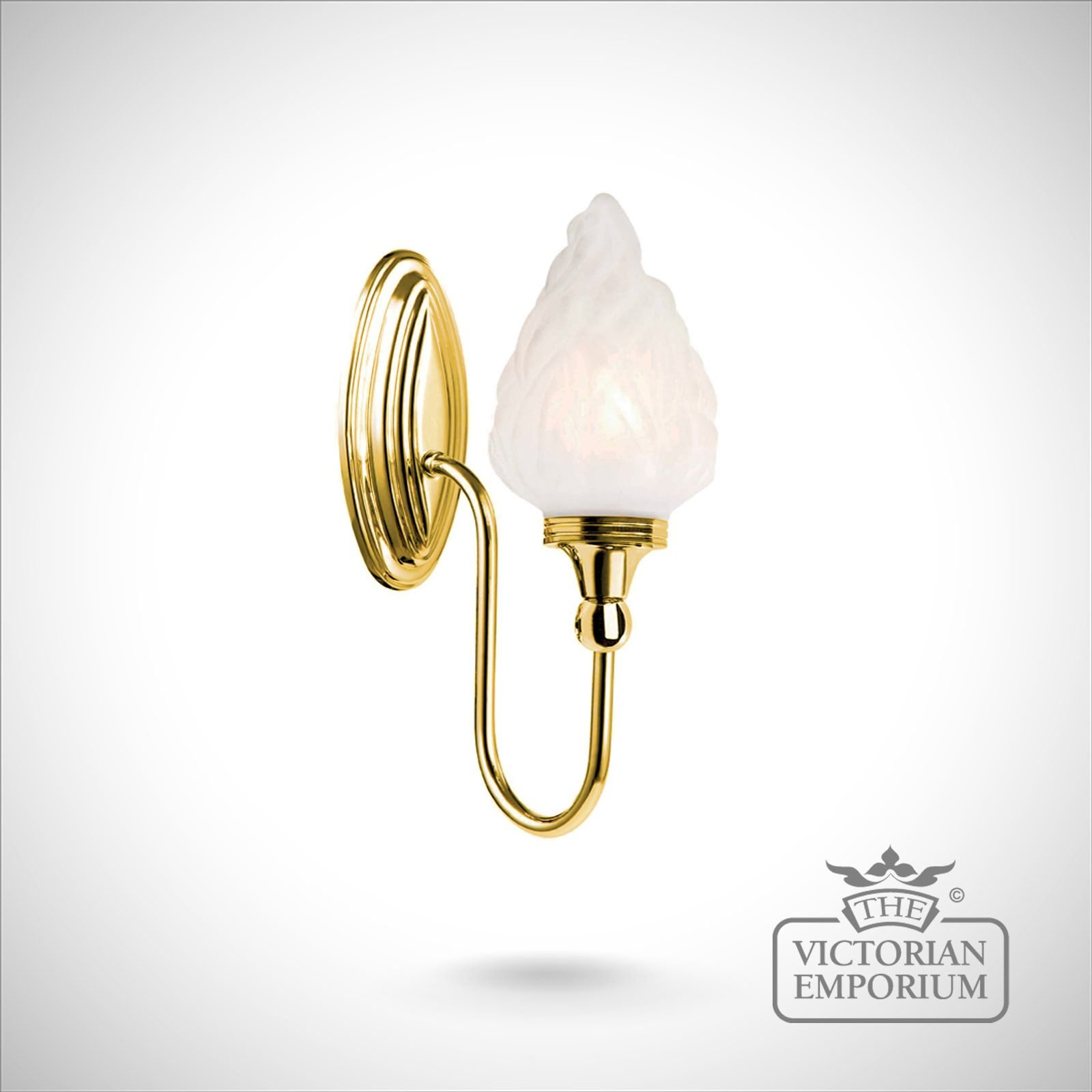 Decorative Wall Lights For Bathroom : Bathroom wall light blake in polished brass lights