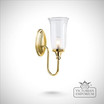 Bathroom wall light - Blake 2 in polished brass