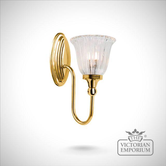 Bathroom wall light - Blake 1 in polished brass