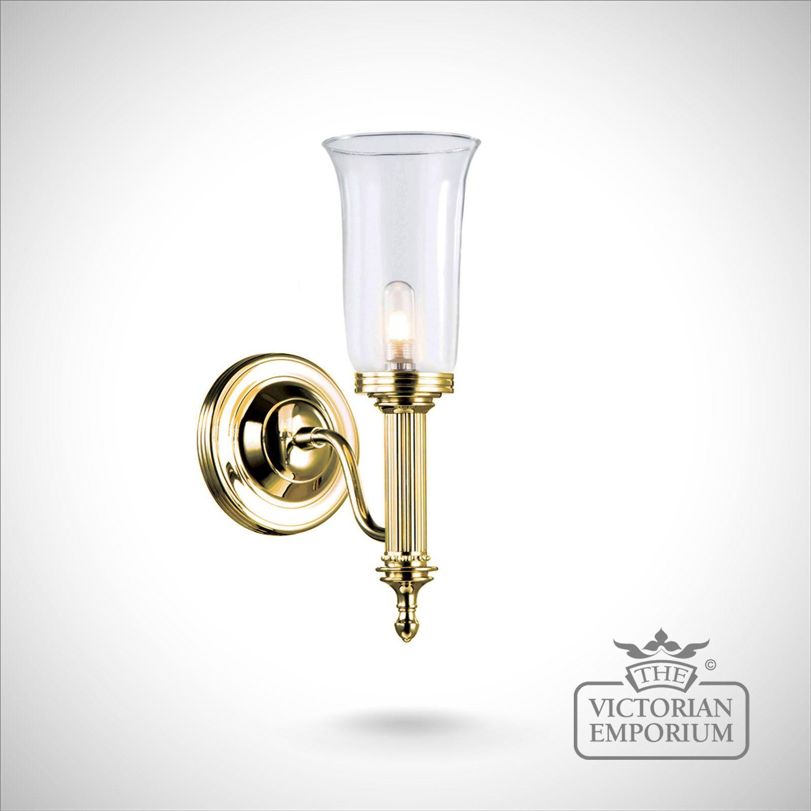 Bathroom Wall Light Carol 2 In Polished Brass Lights