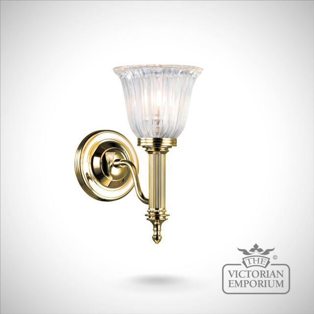 Bathroom wall light - Carol 1 in polished brass
