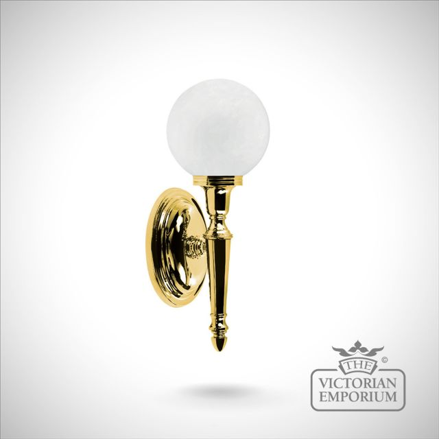 Bathroom wall light - Ryde 4 in polished brass