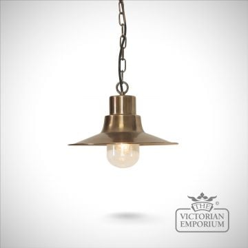 Sheldon chain lantern - brass
