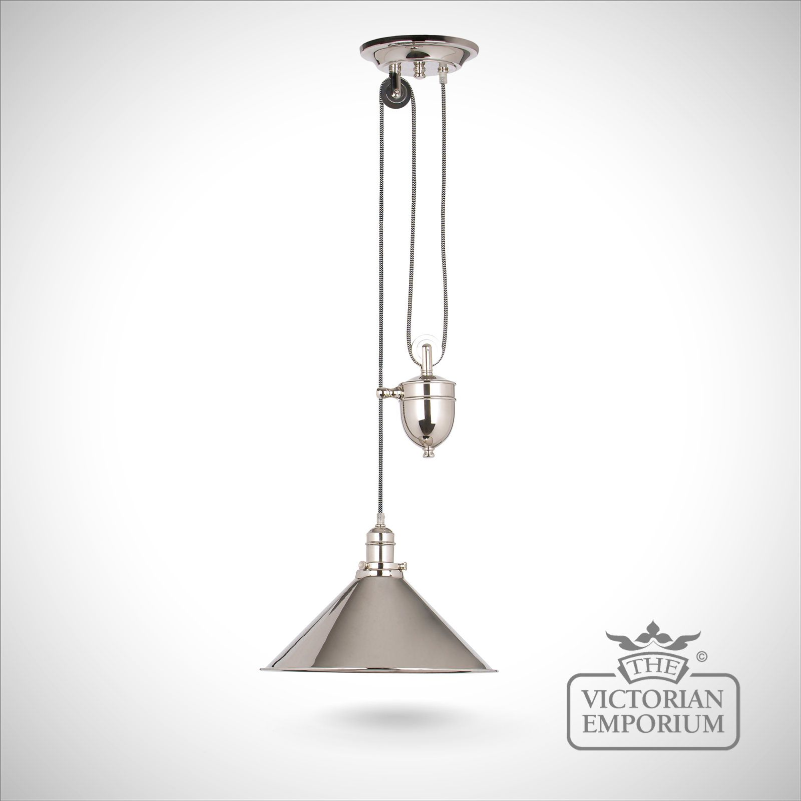 Provence rise and fall light in polished nickel