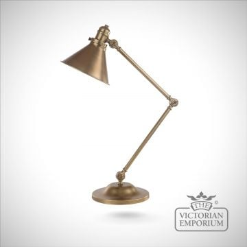 Provence table lamp in Aged Brass