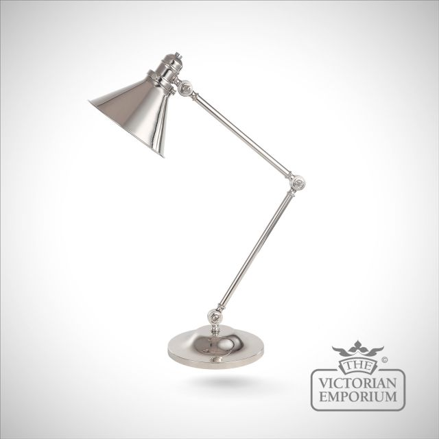 Provence table lamp in Polished Nickel