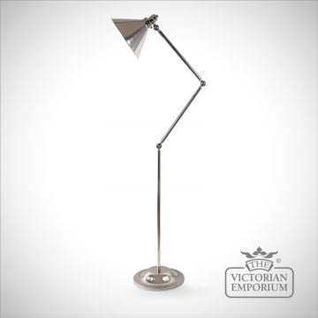 Provence floor lamp in Polished Nickel