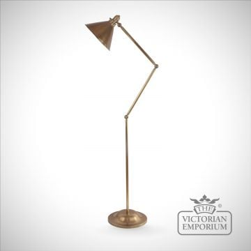 Provence floor lamp in Aged Brass