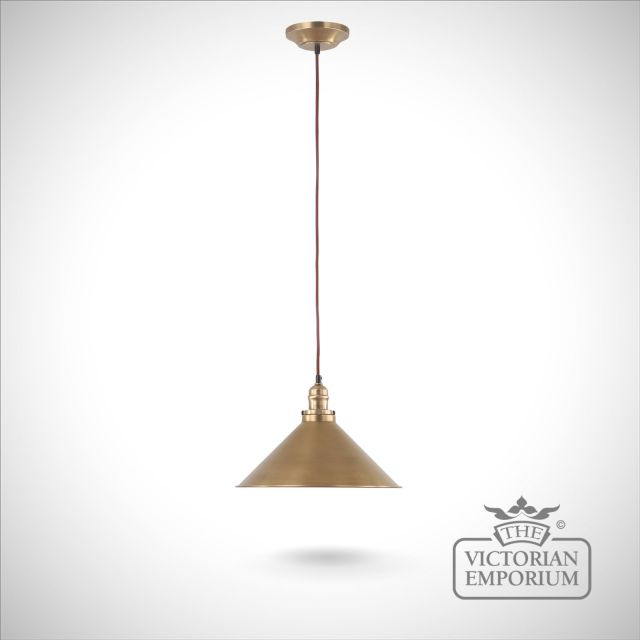 Provence pendant light in Aged Brass