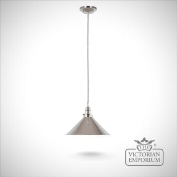 Provence pendant light in Polished Nickel