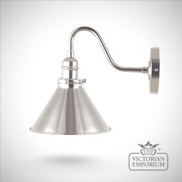 Provence wall light in Polished Nickel