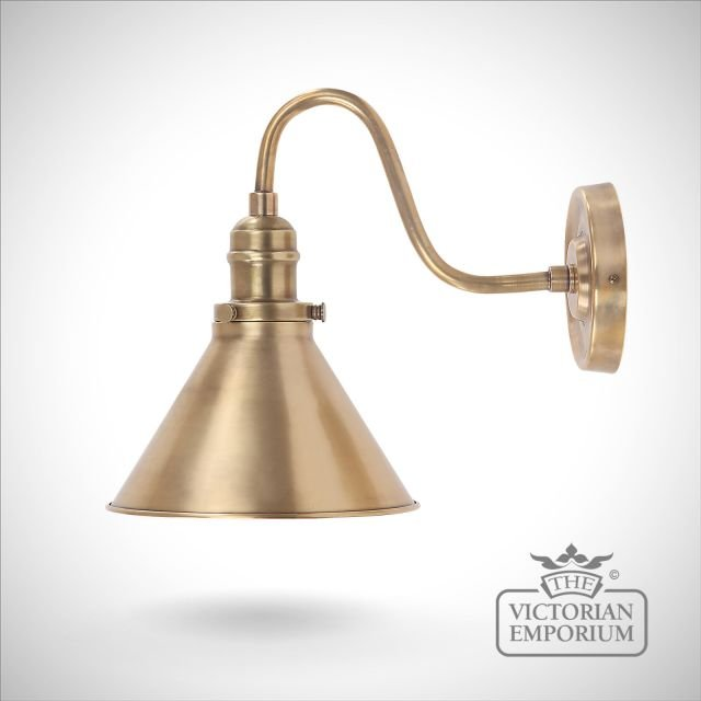 Provence wall light in Aged Brass