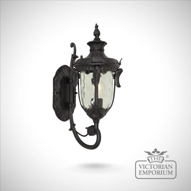Philadelphia up wall lantern in black - choice of 3 sizes