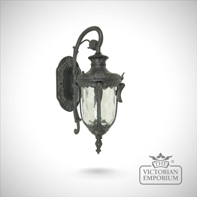 Philadelphia down wall lantern in black - choice of 3 sizes