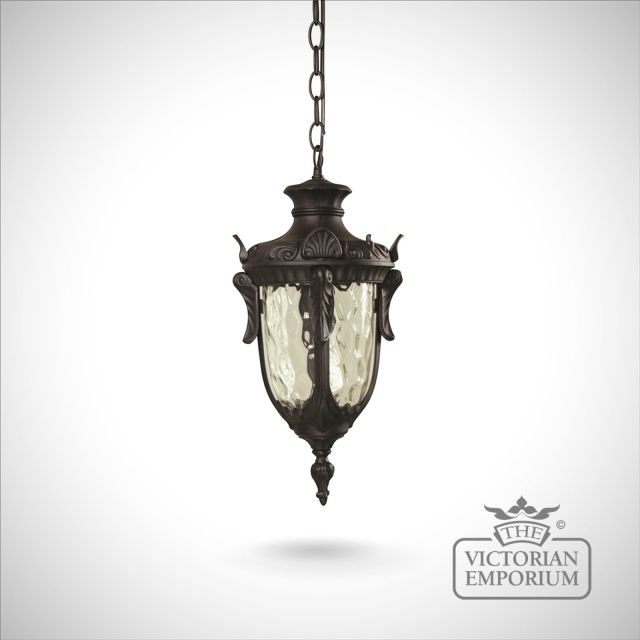 Philadelphia medium chain lantern in Black