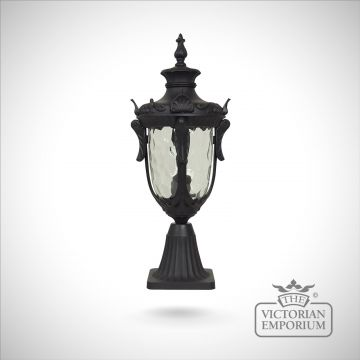 Philadelphia medium pedestal lantern in Black