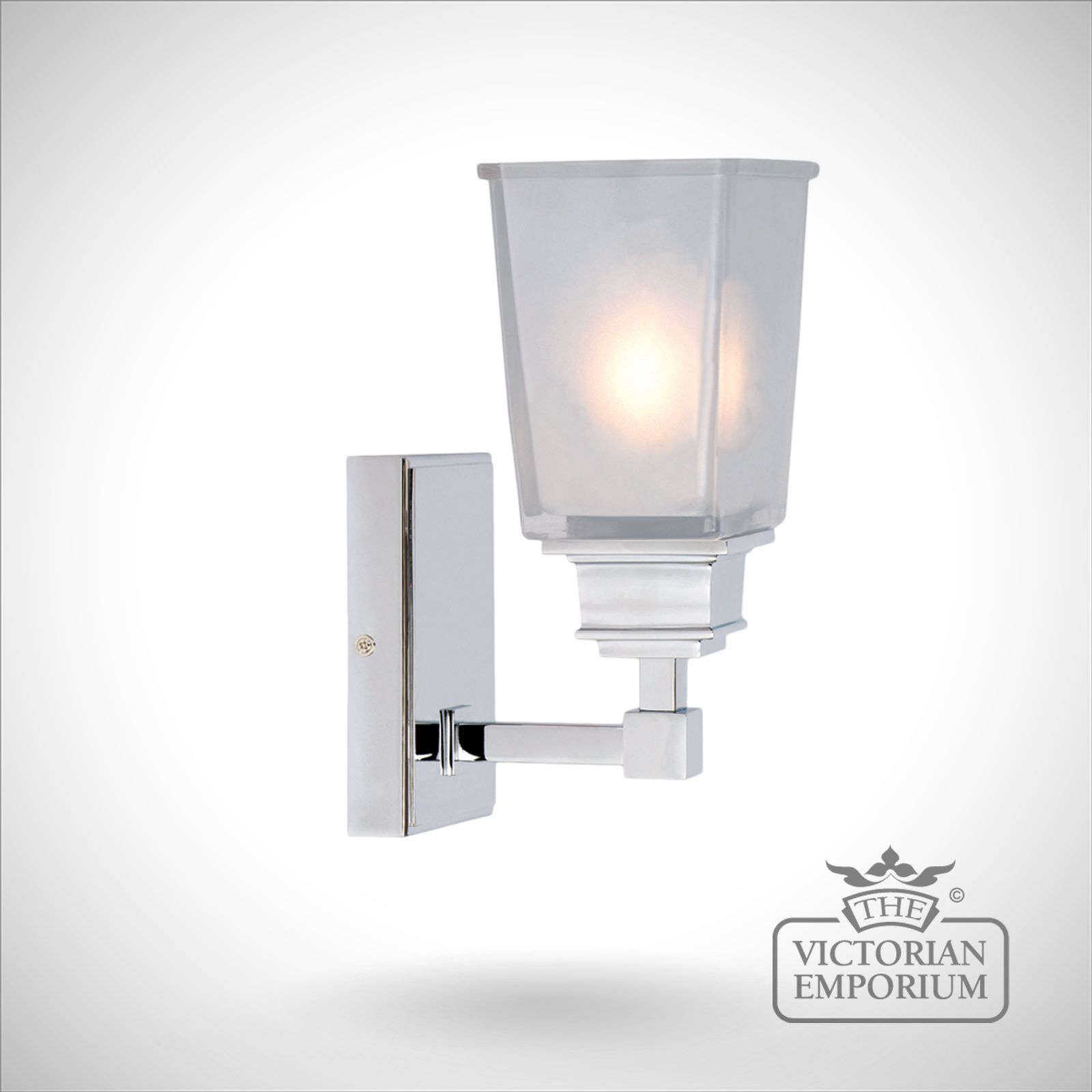 Aylesbury chrome wall light the victorian emporium - Victorian bathroom lighting fixtures ...