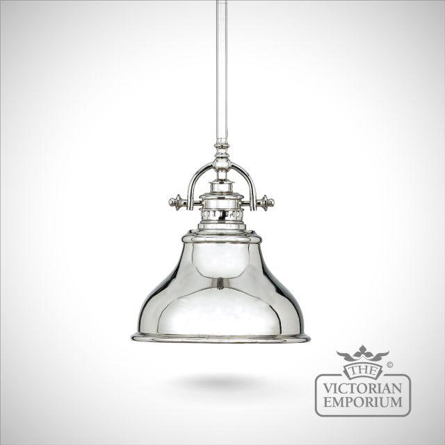 Emerey single mini pendant light in Silver