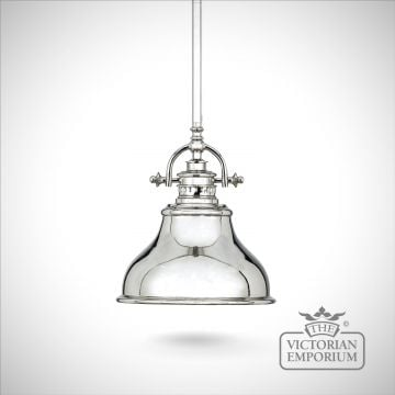 Emerey single mini pendant light in Silver