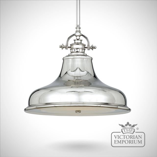 Emerey single medium pendant light in Silver