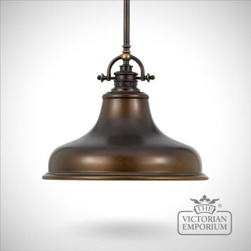 Emerey single medium pendant light in Palladin Bronze