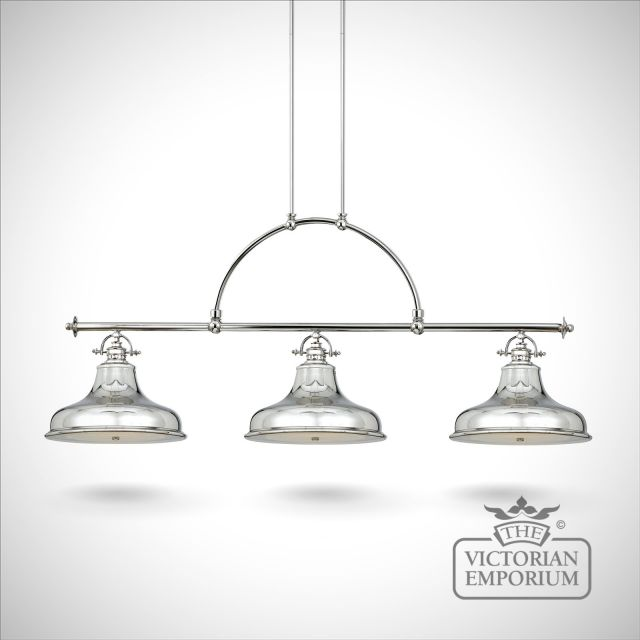 Emerey triple island light in Silver