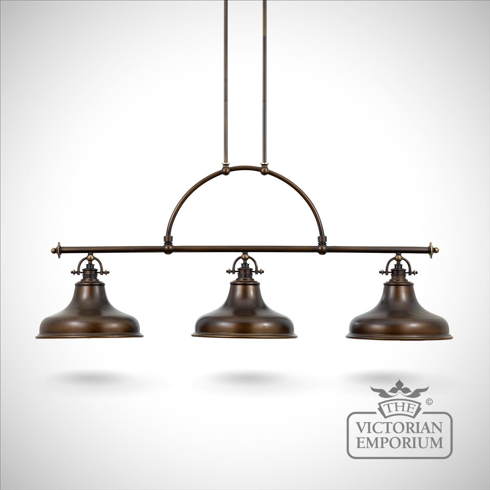 victorian kitchen lighting. emerey triple island light in palladin bronze victorian kitchen lighting e