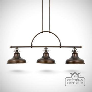 Emerey triple island light in Palladin Bronze