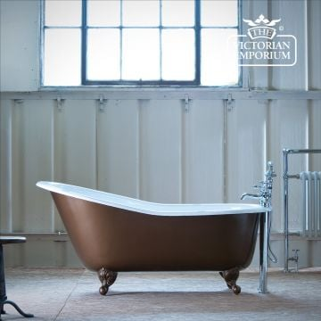 Bordeaux Cast Iron Single Ended Slipper Bath