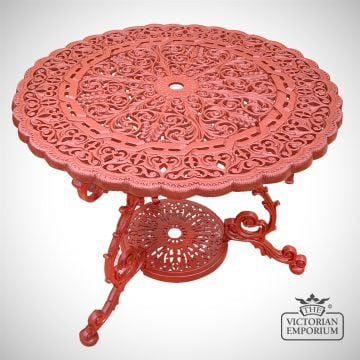 Victorian Cast Outdoor Lily Design Table