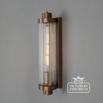 Louise Ripped Glass and Brass Bathroom Wall Light
