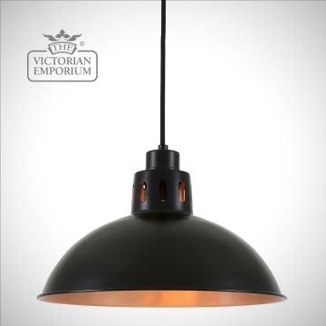 Besemer Black and Copper Pendant Light