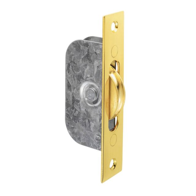 Sash window axle pulley - square forend with wheel