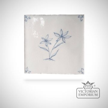 Hand painted tile 13x13cm - Wildflower 1